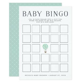 Tadellose Babyparty-Bingo-Spiel-Karte des Karte
