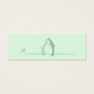 Tadellose Braut und Bräutigam Mini-Visitenkarten