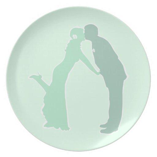 Tadellose Braut und Bräutigam Party Teller