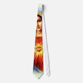 Tadellose gesegnete Jungfrau Mary Bedruckte Krawatte