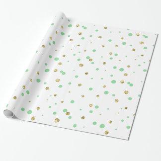 Tadellose Goldconfetti-Punkte Geschenkpapier