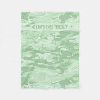Tadellose grüne Camouflage mit kundenspezifischem Fleecedecke