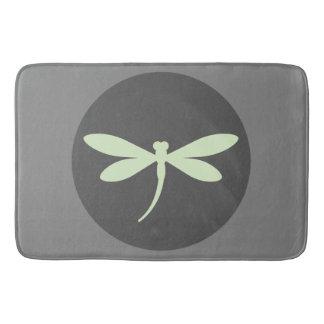 Tadellose grüne Libellen-Bad-Matte Badematte