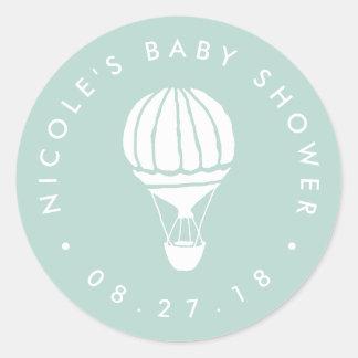 Tadellose Heißluft-Ballon-Babyparty Runder Aufkleber