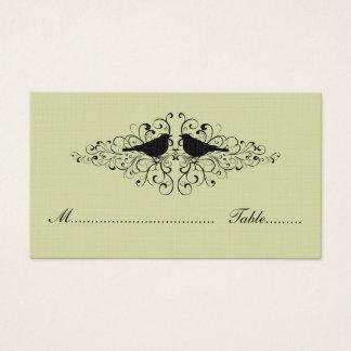 Tadellose Liebe-Vogel-Wirbels-Platzkarte Visitenkarte