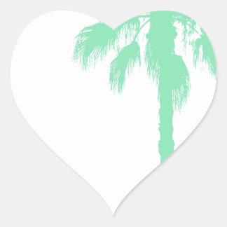 Tadellose Palmen Herz-Aufkleber