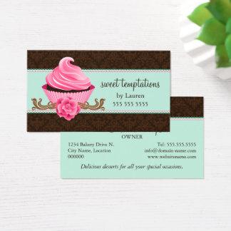 Tadellose rosa Couture-Kuchen-Bäckerei Visitenkarte