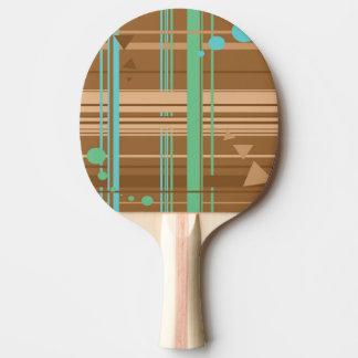 Tadellose Schokoladen-Geometrie Tischtennis Schläger
