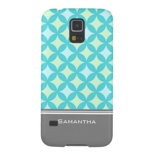 Tadelloser aquamariner grauer Muster-individueller Hülle Fürs Galaxy S5