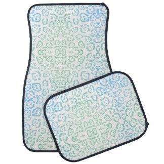 Tadelloser blauer Leopard PastellKawaii Autofußmatte