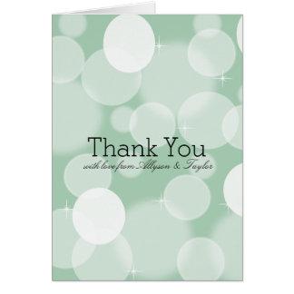 Tadelloser Bokeh danken Ihnen Karte