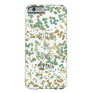 Tadelloser GoldConfetti personalisiert Barely There iPhone 6 Hülle