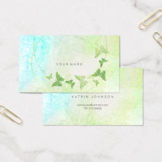 Tadelloser grüner blauer Schmetterling Tiffanys Visitenkarte
