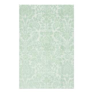 Tadelloser grüner Damast-Extrablätter stationär Briefpapier