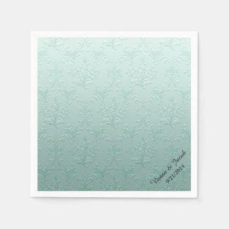 Tadelloser grüner Damast-kundenspezifische Papierservietten