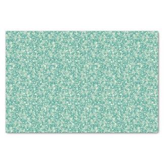 Tadelloser grüner Glitter und Scheine Seidenpapier