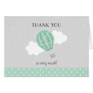 Tadelloser Heißluft-Ballon danken Ihnen zu Karte