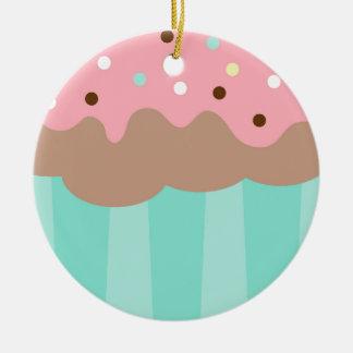 Tadelloser kleiner Kuchen Rundes Keramik Ornament