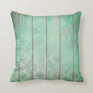 Tadelloser Tiffany aquamariner grüner Kissen