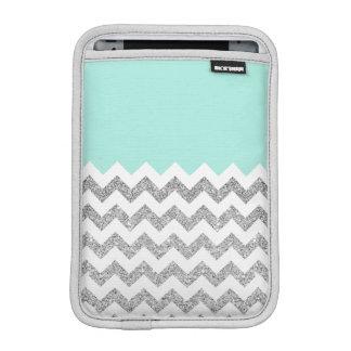 Tadelloser und silberner Imitat-Glitzer Zickzack iPad Mini Sleeve