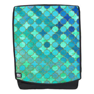 Tadelloses Aqua-aquamarines Goldorientalisches Rucksack
