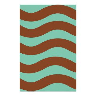 Tadelloses Grün und Brown-Wellen Briefpapier
