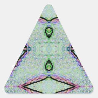 Tadelloses grünes geometrisches Muster Dreieckiger Aufkleber