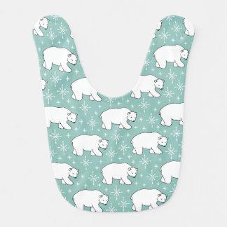 Tadelloses grünes niedliches polarer Bärn-Muster Babylätzchen