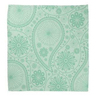 Tadelloses grünes Paisley-Muster Halstuch