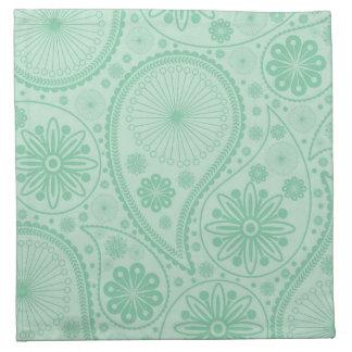 Tadelloses grünes Paisley-Muster Stoffserviette