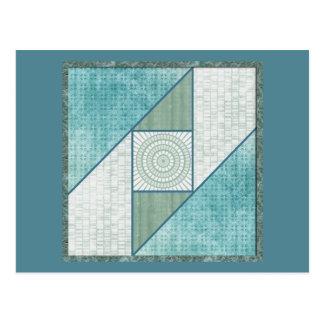 Tadelloses grünes u. blaues postkarte
