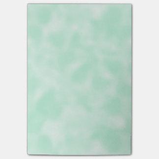 Tadelloses Grünes und Weiß gesprenkelt Post-it Klebezettel