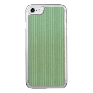 Tadelloses grünes vertikale Streifen-Muster Carved iPhone 7 Hülle