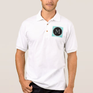 Tadelloses grünes weißes Anker-Muster, schwarzes Polo Shirt
