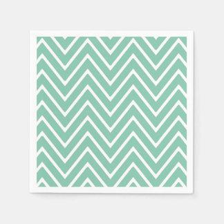 Tadelloses grünes Zickzack Muster 2 Papierserviette