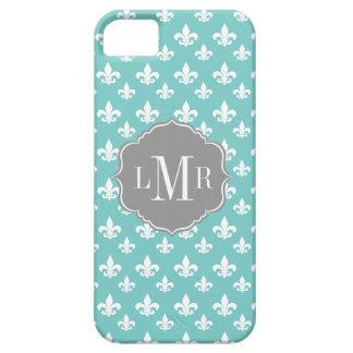 Tadelloses Lilien-Muster-Monogramm iPhone 5 Schutzhülle