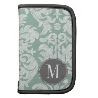 Tadelloses und graues Damast-Muster-Gewohnheits-Mo Mappen