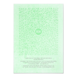 Tadelloses Vintages mit BlumenBrautparty Karte