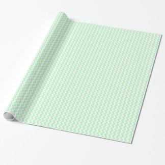 Tadelloses weißes Zickzack Zickzack-Muster Geschenkpapier