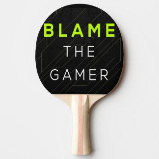 Tadeln Sie das Gamer-Klingeln Pong Paddel Tischtennis Schläger