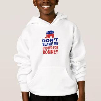 Tadeln Sie mich nicht, den ich für Romney wählte Hoodie
