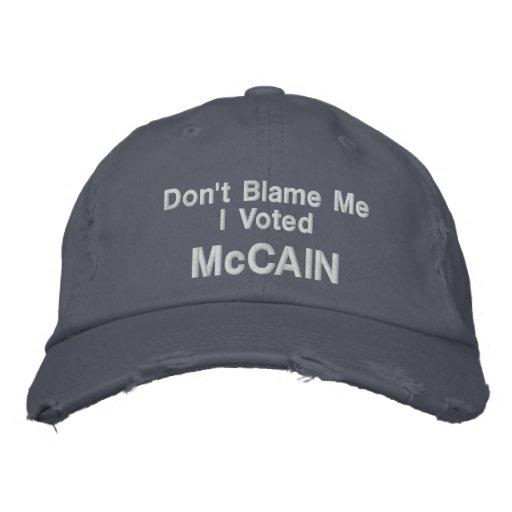 Tadeln Sie mich nicht, den ich McCAIN Hut wählte Baseballcap