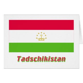 Tadschikistan Flagge MIT Namen Karte