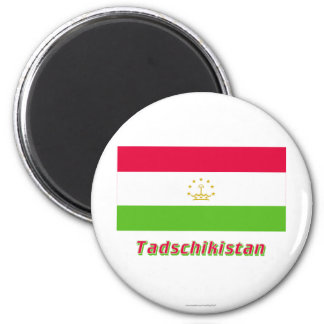 Tadschikistan Flagge MIT Namen