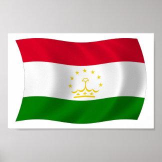 Tadschikistan-Flaggen-Plakat-Druck Poster
