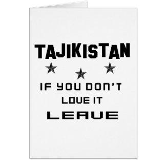 Tadschikistan, wenn Sie nicht Liebe es tun, Karte