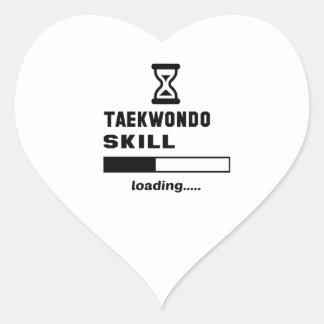 Taekwondo-Fähigkeit Laden ...... Herz Sticker