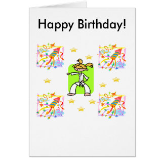 Taekwondo-Geburtstags-Karte - Mädchen Grußkarte
