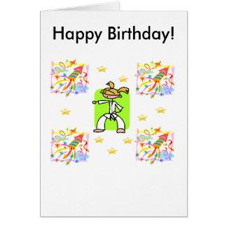 Taekwondo-Geburtstags-Karte - Mädchen Karte