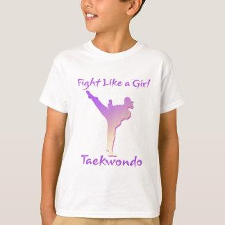 Taekwondo-Mädchen T-Shirt